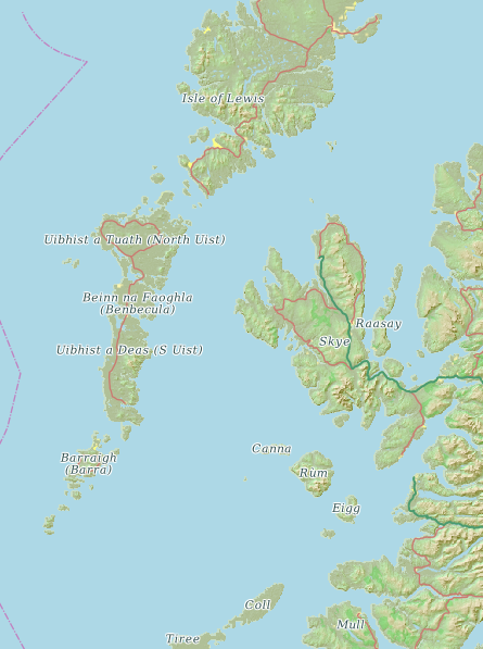 cartotype hebrides